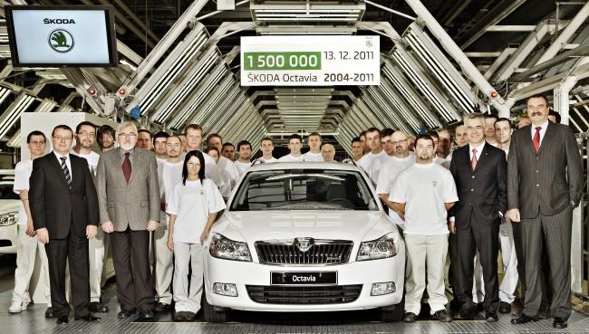 Skoda fabrica la unidad 1.500.000 del Octavia