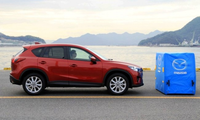 Nuevos sistema de frenado Smart City para el Mazda CX-5