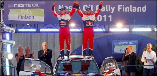 Loeb sigue anotando puntos en el Rally de Finlandia