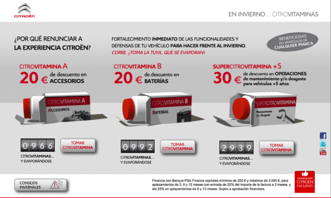 Vitaminas Citroën para afrontar el invierno
