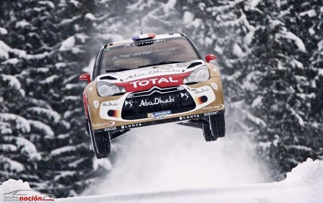 Loeb se luce sobre el hielo en el Rally de Suecia