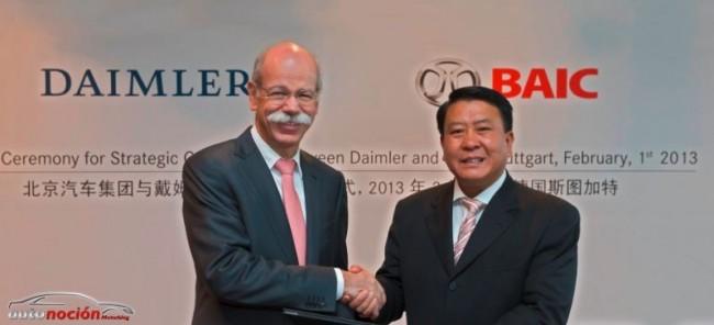 Daimler AG invertirá en BAIC Motor para reforzar su presencia en China