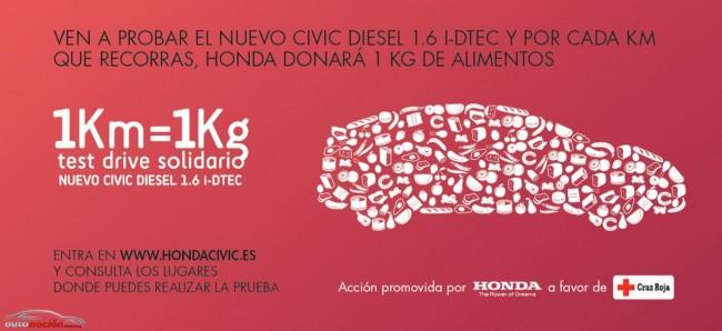 Honda cambia Kilómetros por Kilos de alimentos