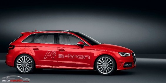 Lateral Audi A3 etron