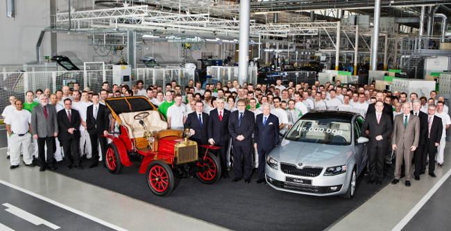 Škoda fabrica su unidad 15.000.000