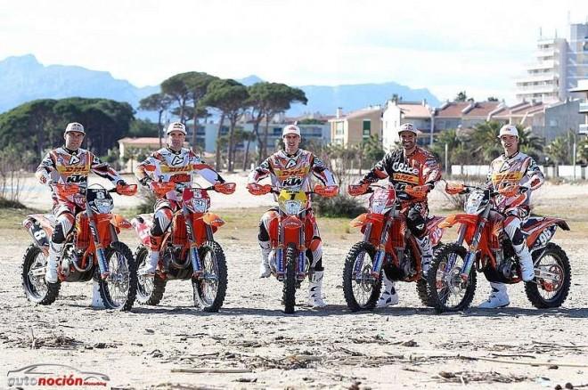 El KTM Enduro Factory Team a punto para la victoria