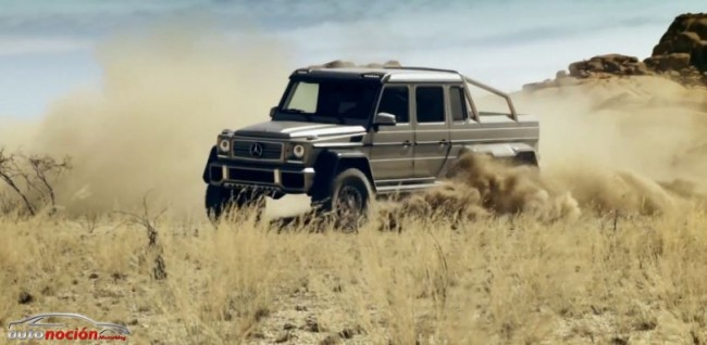 [Vídeo] Mercedes-Benz G63 AMG 6×6: Una pick up a lo bestia