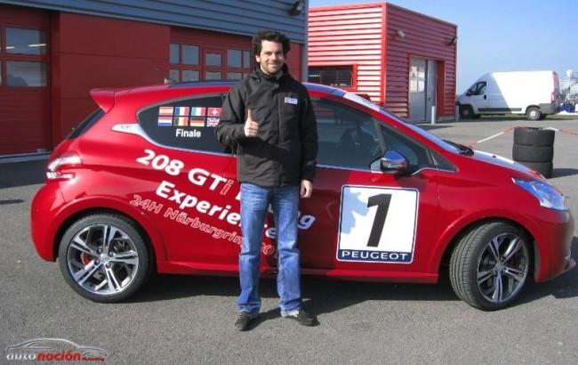 El Peugeot 208 GTi ya conoce a su embajador español en las 24 Horas de Nürburgring