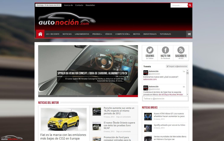 Autonocion.com rediseña su portal web, ahora también para Tablets y Móviles