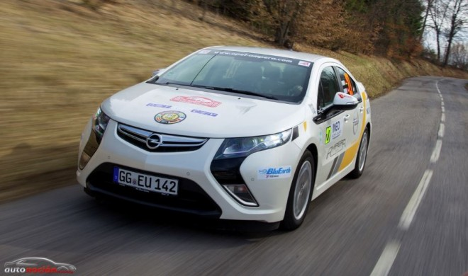 El Opel Ampera en el Rallye de Monte-Carlo