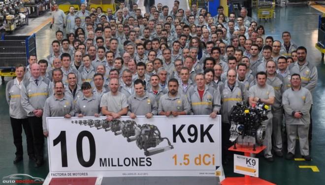 La factoría de Renault en Valladolid produce el motor K9K 10 millones