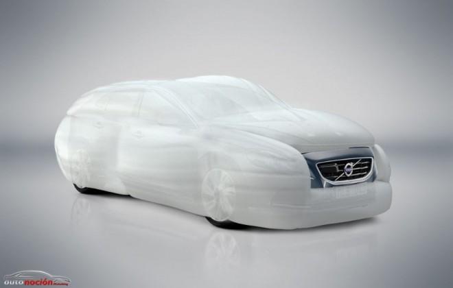 Volvo presenta el airbag que envuelve al vehículo