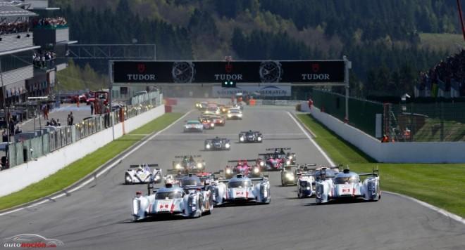 Triplete de Audi en Spa Francorchamps con Marc Gené en el podio