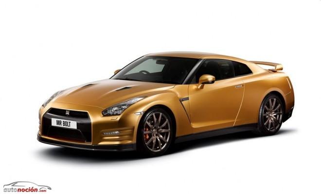 Un Nissan GT-R de oro para el hombre más rápido del mundo: Usain Bolt