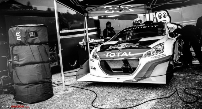 Peugeot calienta ruedas en Mont Ventoux