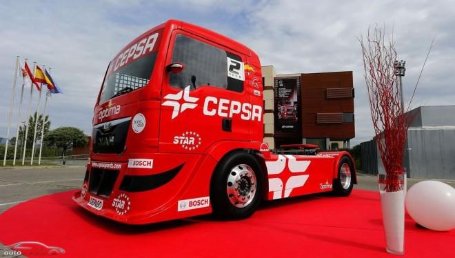 El Cepsa Truck Team de Antonio Albacete se presenta en Las Rozas