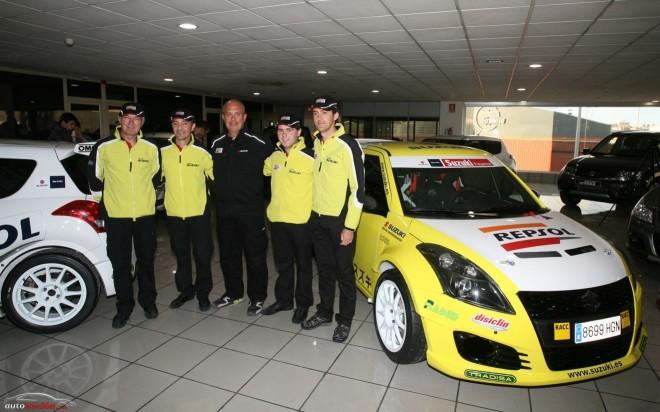 Así son los Swift Sport del equipo Suzuki-Repsol