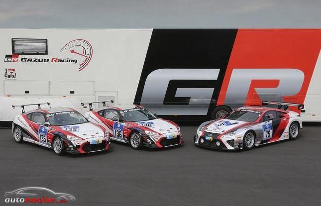 Toyota estará presente en las 24 horas de Nürburgring con un Lexus LFA y dos GT86