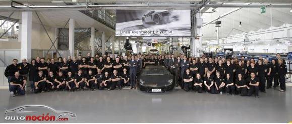 Lamborghini ha fabricado 2.000 unidades del Aventador