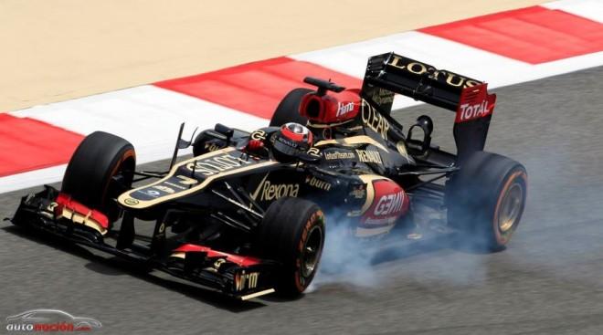 Ferrari y Lotus pugnan por ser los que más adelantan en carrera