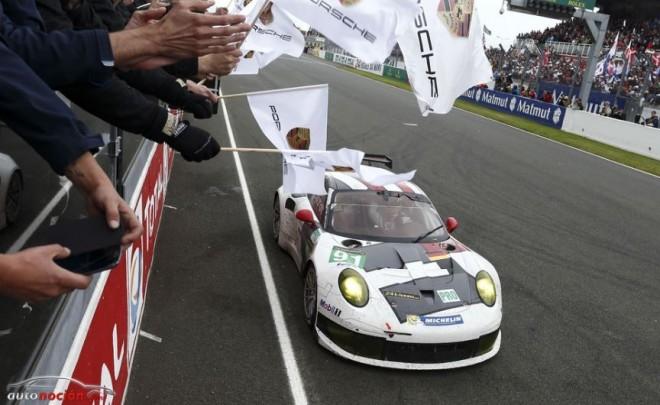 Doble triunfo del Porsche 911 RSR en Le Mans