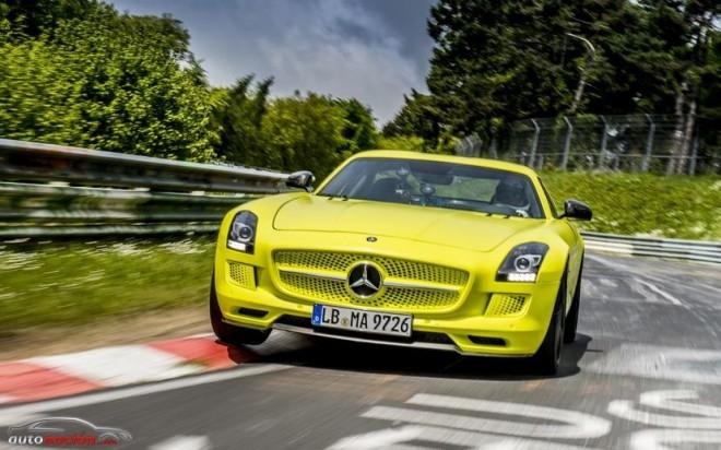 El SLS AMG Coupé Electric Drive marca 7:56.234 minutos en Nordschleife