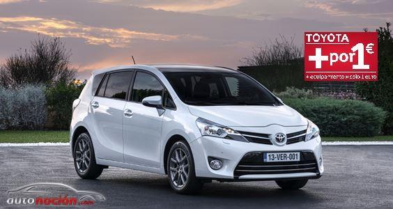 Toyota mantiene en junio la campaña + por 1€