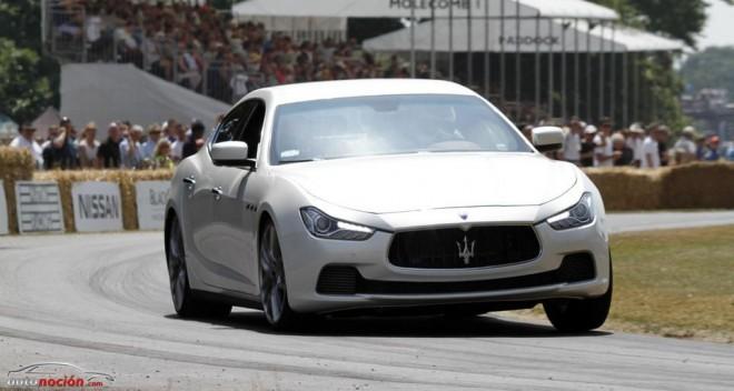 El Maserati Ghibli atrae las miradas en el Festival of Speed