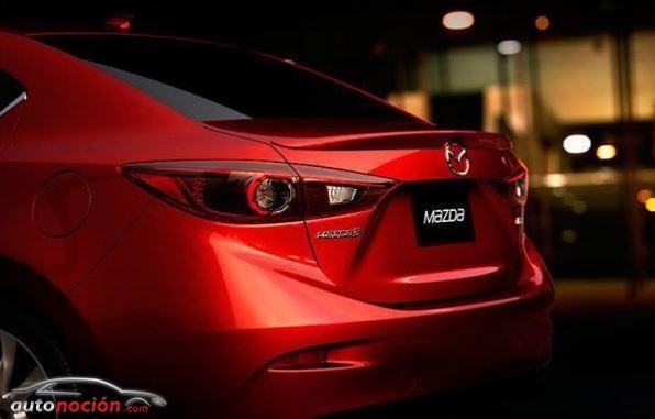 Así será la trasera del Mazda 3 Sedán