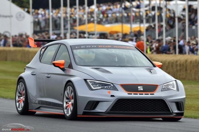 El SEAT León Cup Racer deslumbra en Goodwood