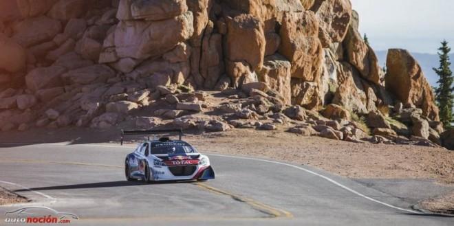 Loeb al volante del Peugeot 208 T16 logra un tiempo récord en Pikes Peak