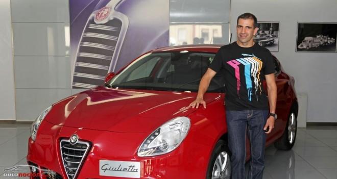 Marc Gené y su nuevo Alfa Romeo