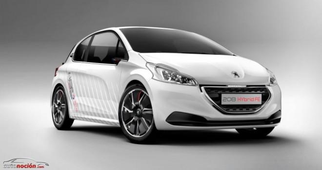 El Peugeot 208 HYbrid FE consigue unas emisiones de 49 g de CO2
