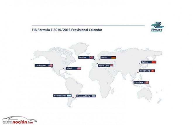 Así es el calendario provisional de la Fórmula E 2014/2015
