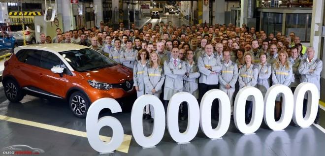 La factoría de Valladolid alcanza los 6 millones de vehículos con el Renault Captur