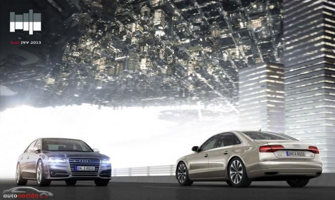 Juegos de luces y ciudades colgantes en el stand de Audi en Frankfurt