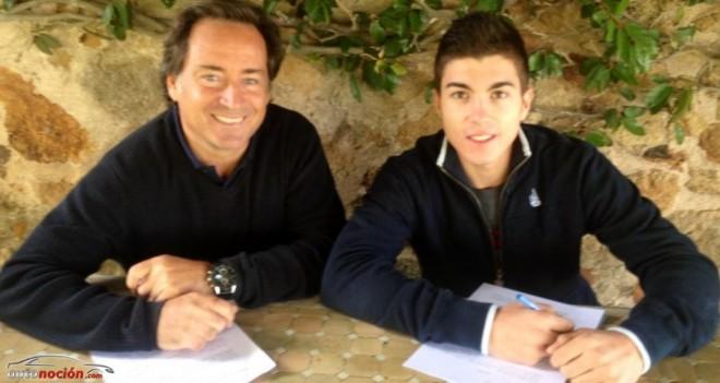 Luis Salom y Maverick Viñales con el Tuenti HP 40 en 2014 y 2015