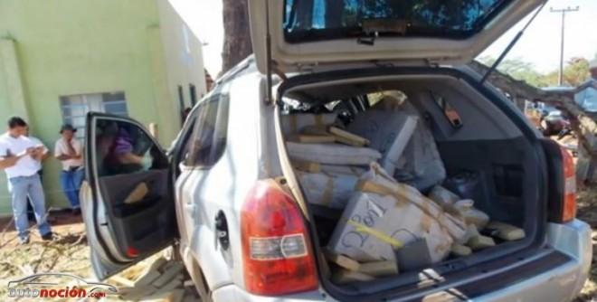 ¿Un narcotraficante aplastado por su propia mercancía?: ¡Sujeta bien la carga!