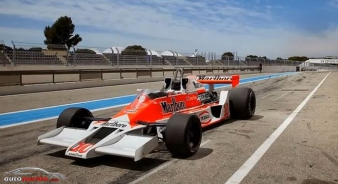 El McLaren M26 de James Hunt sale a subasta