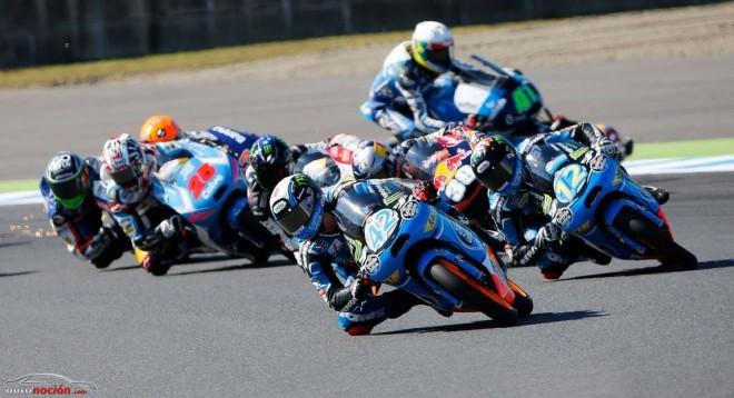 Moto3: Las caídas de Salom y Rins deparan una lucha de tres para Valencia