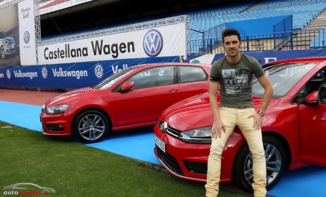 Volkswagen entrega un Golf a cada jugador del Atlético de Madrid
