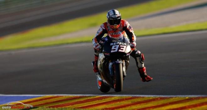 Márquez toma el protagonismo en el 2º día de Test en Valencia