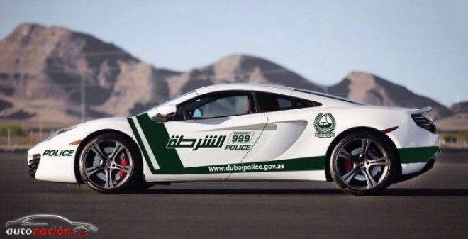 La policía de Dubai nos muestra una imagen de su próximo coche patrulla, el McLaren 12C