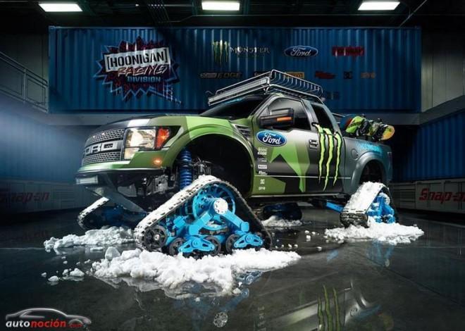 Ford F-150 RaptorTRAX by Hoonigan Racing: El coche que Ken Block se llevará a la nieve…