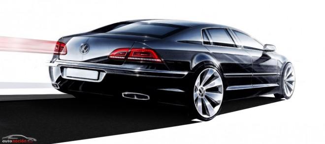 La segunda generación del Volkswagen Phaeton se parecerá aún más al Audi A8