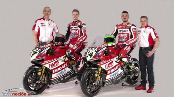 Hoy se ha presentado el equipo oficial Ducati para la temporada 2014 de Superbikes