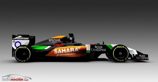 Force India presenta su monoplaza para 2014 con grandes novedades