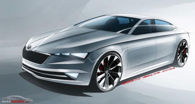 Škoda VISIONC: Un espectacular coupé de 5 puertas similar al A5 Sportback que llegará en 2015