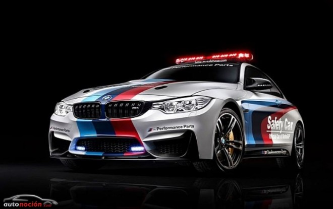 BMW nos muestra al M4 disfrazado de Safety Car para Moto GP