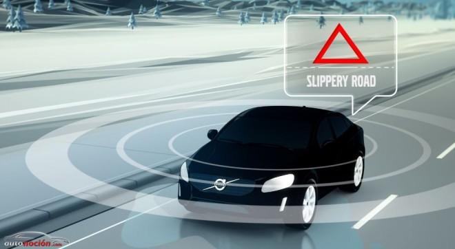 Volvo está probando un sistema que almacenará información sobre el estado del firme en la nube